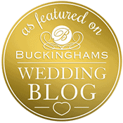 Wedding photography featured on buckinghams wedding blog button