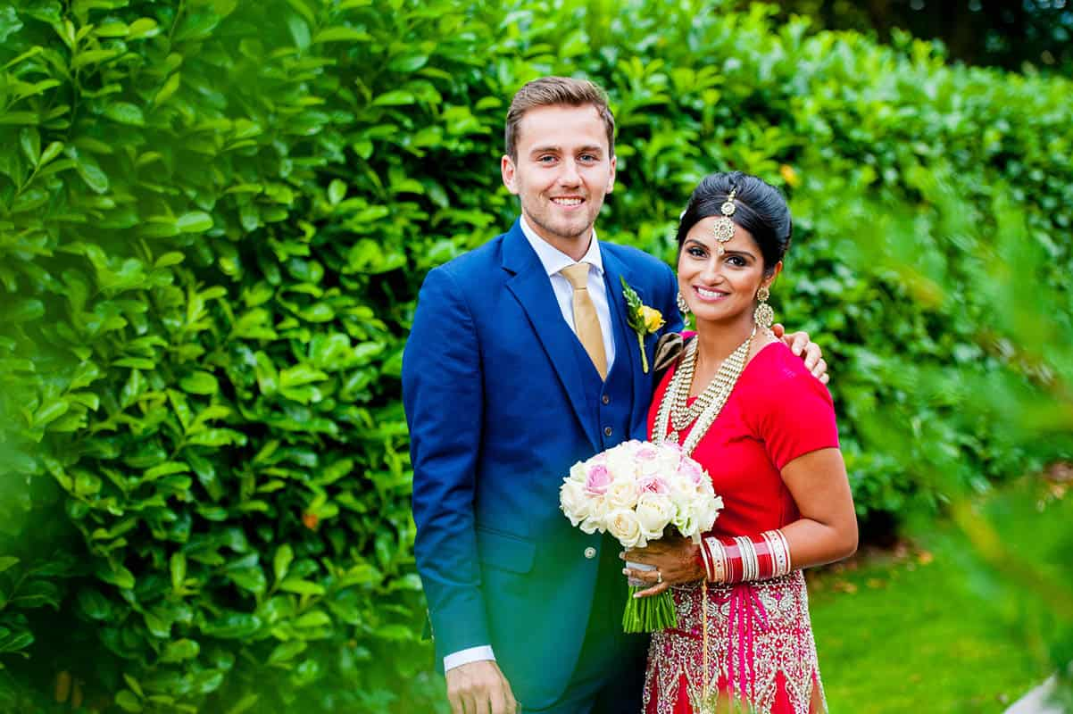 A photo of a Bride and Groom at their wedding at Goosedale in Nottingham