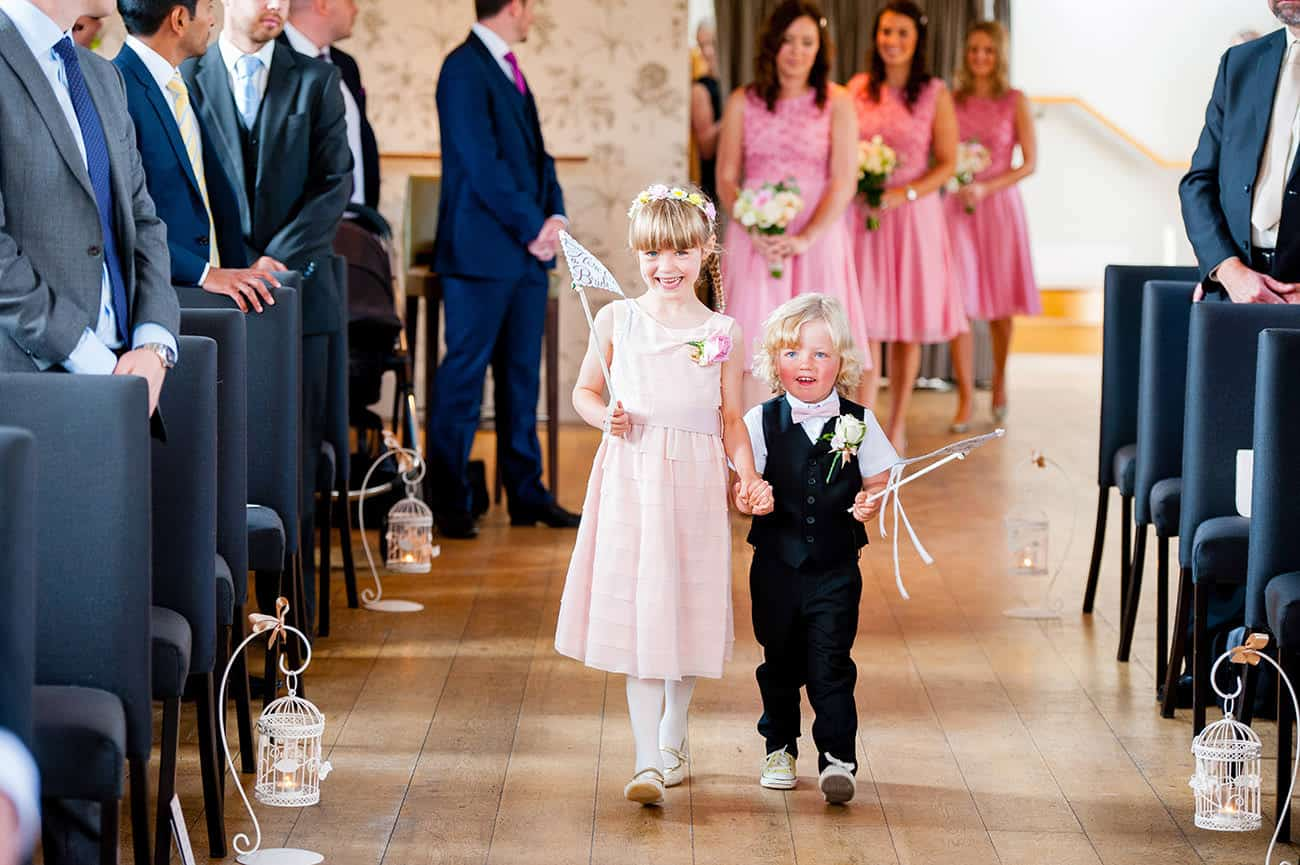 Flower Girl at the Carriage Hall Nottingham Wedding