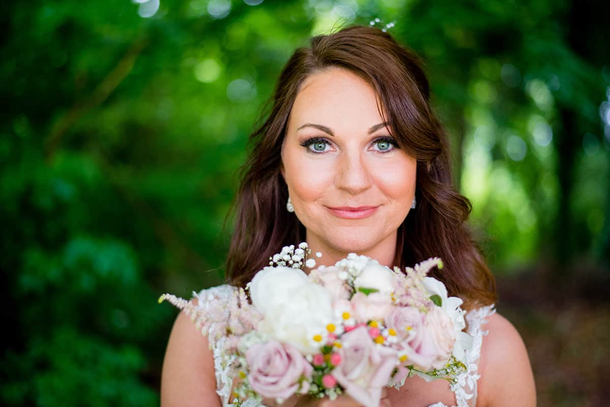 A Bride at a wedding at Colwick Hall in Nottingham